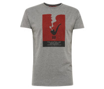 T-Shirt 'Pipe' graumeliert