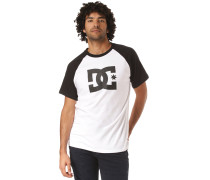 T-Shirt 'Star' schwarz / weiß