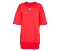 Kleid 'Trefoil' orangerot / weiß