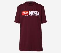 T Shirt burgunder / weiß