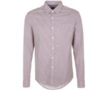 Hemd bordeaux / weiß
