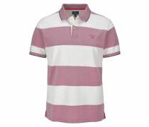 Poloshirt 'Oxford Stripe Rugger' lila / weiß