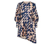 Kleid nude / blau