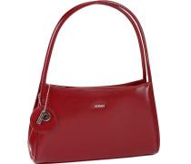 Berlin Handtasche Leder 31 cm rubinrot