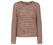 Pullover 'Tuka 2' braun / hellbraun / rot