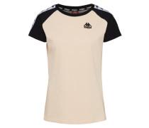 T-Shirt 'authentic Apan' puder / schwarz