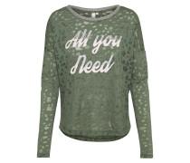 Sweatshirt grasgrün / silber
