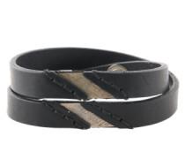 Wickelarmband 'A-Linup' schwarz