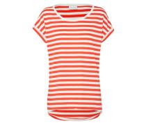 T-Shirt 'Dreamers' rot / weiß