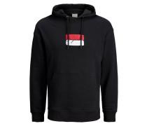 Sweatshirt hellrot / schwarz / weiß