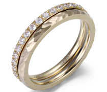 Ring-Set gold / transparent