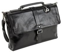 Buddy Business-Tasche Leder 38 cm schwarz