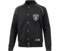 'Oakland Raiders' Collegejacke Herren schwarz