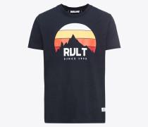 T-Shirt navy / mischfarben / weiß
