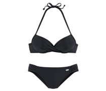 Push-up-Bikini schwarz