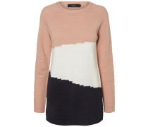 Pullover nachtblau / altrosa / weiß