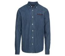 Jeanshemd 'regular FIT 1 pocket clean denim shirt with pochet'