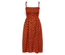Kleid 'Dotty' braun / rostbraun