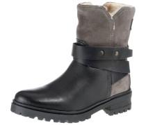 Boots taupe / schwarz