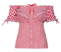 Bluse 'Clio' rot / weiß
