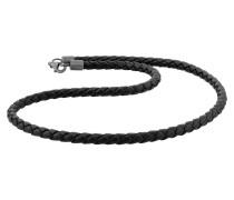 Halskette schwarz / silber