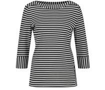 T-Shirt 3/4 Arm 3/4 Arm Shirt mit feinem Ringel