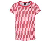 Shirt in Streifenoptik rot / weiß