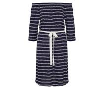 Kleid Casual dunkelblau / offwhite