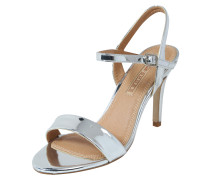 Riemchensandalen in Lack-Optik silber