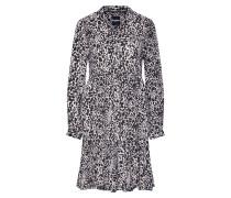 Kleid 'scandi Shirt Dress' schwarz / weiß