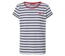 Shirt 'Small Ship' rot / navy / weiß
