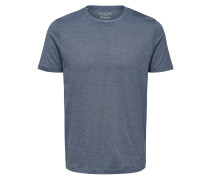 Basic T-Shirt blau