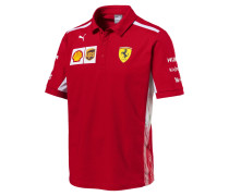 T-Shirt 'Ferrari Team Polo' hellrot