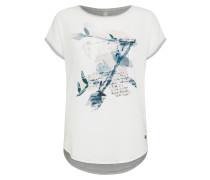 Shirt 'sc-Sue 23' grau / weiß
