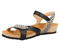 Sandaletten schwarz / weiß