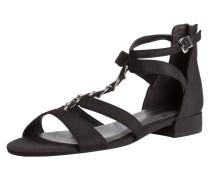 Sandale schwarz / silbergrau