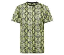 T-Shirt 'onssnake AOP REG SS Tee' grün