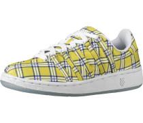 Sneakers Low blau / gelb / weiß
