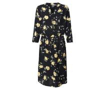 Kleid 'byisole' beige / schwarz