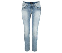 Destroyed-Jeans blue denim