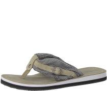 Sandale 'Anhänger' beige / schwarz