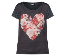T-Shirt dunkelgrau / rosa