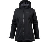 Softshelljacke 'Rock Valley' schwarz