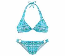 Bügel-Bikini türkis / hellgrün / weiß