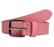 Schmaler Ledergürtel pink