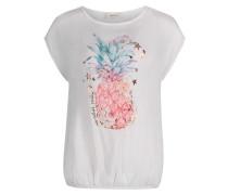 Shirt aqua / gold / hellpink / naturweiß