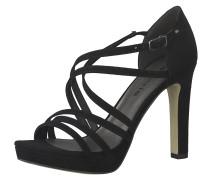 Sandale 'Strappy Heel' schwarz