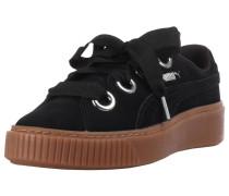 'Platform Kiss Suede' Sneaker schwarz