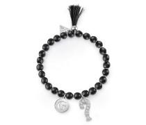 Armband 'talisman' schwarz / silber