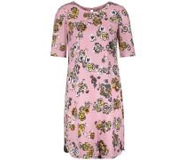 Kleid senf / basaltgrau / rosa / weiß